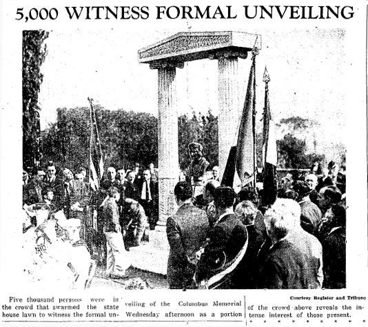 Columbus Monument Unveiling