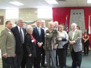 Ambassador Bisogniero with board members of the Italian American Cultural Center of Iowa.
